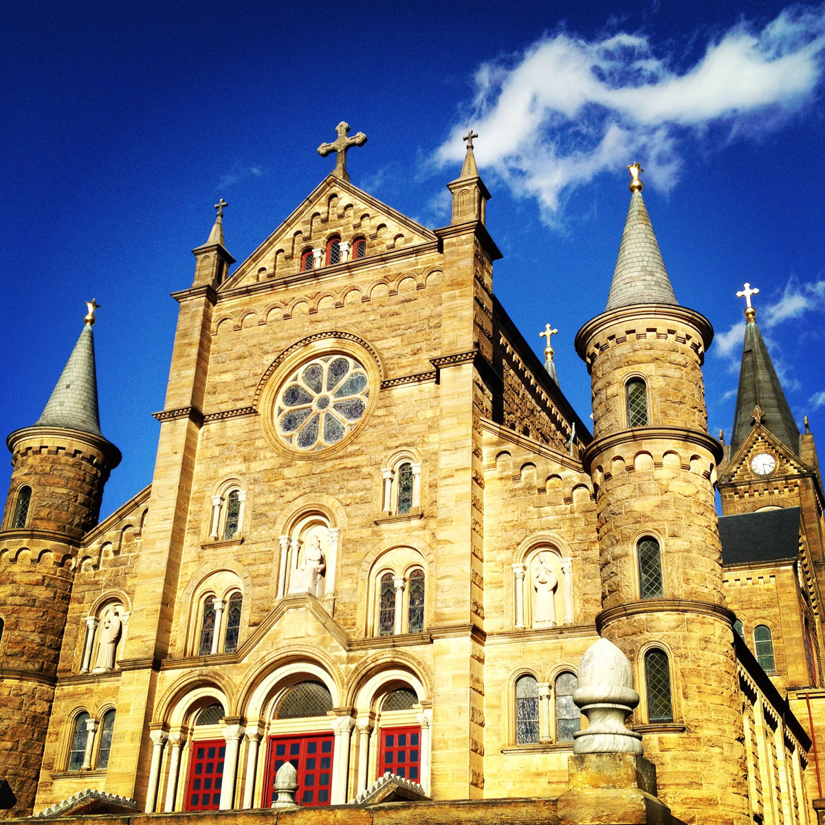 "February 11:  ""Afternoon of meetings to start my last story while at WKU."" I was both hopeful and nervous as I left Saint Meinrad after my first visit."