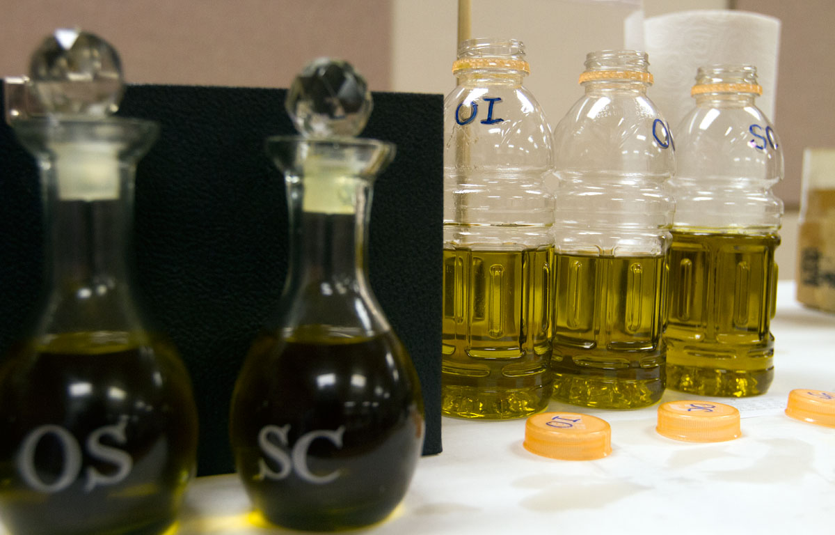 A variety of vessels and travel containers are brought from every parish in the Diocese of Rochester to receive sacramental oils at the Chrism Mass.