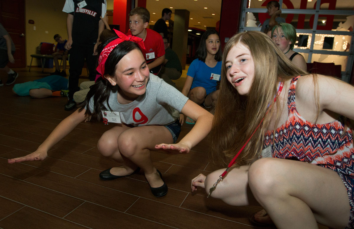 Sarah Pedersen (left) of Barbourville and Kennedy Pendleton of Hopkinsville dance during the SCATS Dance Thursday, June 18.